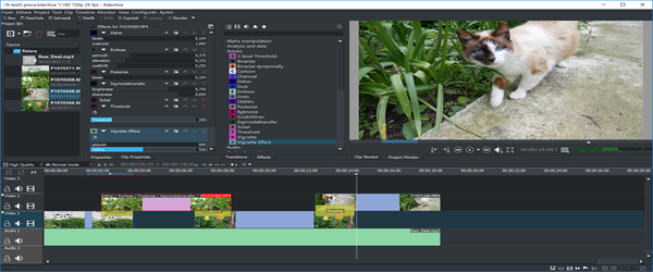 Kdenlive editor de vídeo gratuito para Windows e Linux