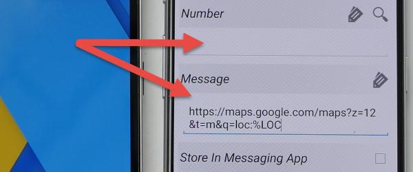 Lokasi dengan nombor telefon tanpa SMS bersih