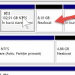 Meningkatkan sistem partition C:, Windows, dengan melampirkan partition lain