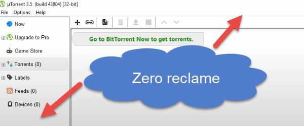Blokavimo arba gadinimas skelbimai uTorrent
