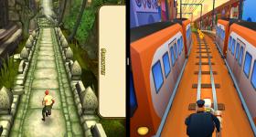 분할 화면 전화에서 동시에 두 게임