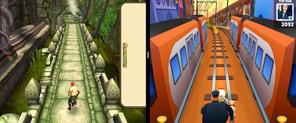 Две игри едновременно в разделен екран на телефона