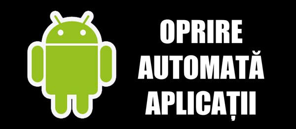 Salida de parada automática de aplicaciones en Android