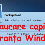 Copie de siguranța Windows stricat, restaurare cu AOMEI