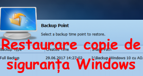 Windows bojāta backup, restaurācijas Aomei