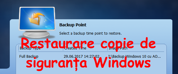 Windows gebroken backup, herstel Aomei