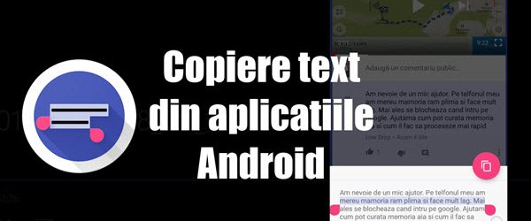 Kopírovanie textu z ľubovoľnej aplikácie pre Android