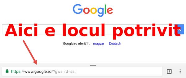So verschieben Sie die JOS-Adressleiste zu Google Chrome Android