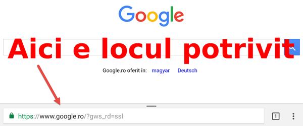 Ako presunúť dole adresného riadku, Google Chrome v systéme Android