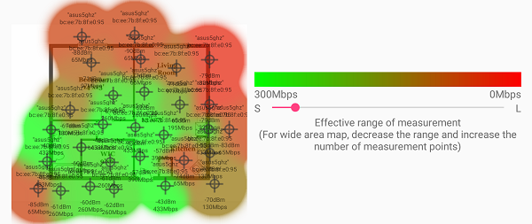 The perfect position for a Wi-Fi router - wireless home signal map
