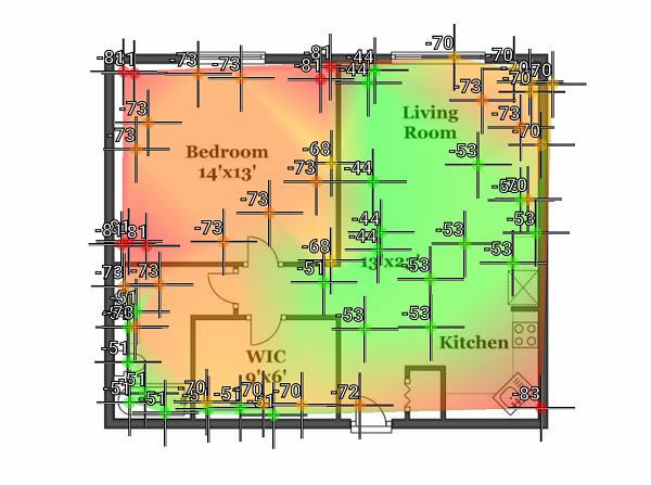 The Perfect Position For A WiFi Router Wireless Home Map - Wireless signal map