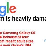 BLOCK okna z opozorili ERROR v sistemu Android