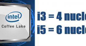 Configuração de PC com novo Intel i3 com 4 NUCLEE Coffe Lake