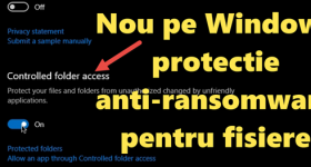 Proti anti ransomware NEW šifrování souborů v programu Windows Defender