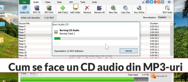 How to make CD Audio Track from MP3 for your car or audio systems
