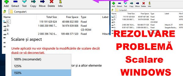 Reparare ferestre blurate la rezolutie mare pe Windows (scalare DPI)