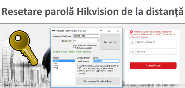 Reset the Hikvision IP camera password remotely