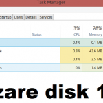 Troubleshoot disk usage or disk usage 100%
