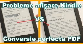 Convert PDF books for Kindle without formatting errors + remove ads