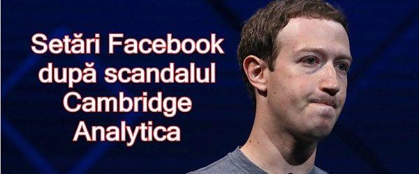 Configurações recomendadas do Facebook relacionadas ao escândalo Cambridge Analytica