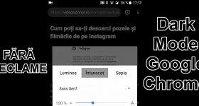 Zjednodušené zobrazení bez reklam s režimem Dark Mode v prohlížeči Chrome pro Android