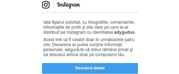 How can you download your photos and videos from Instagram?