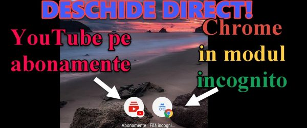 Start Chrome direct op abonnementen via Incognito en YouTube