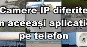 Různé IP kamery v aplikaci