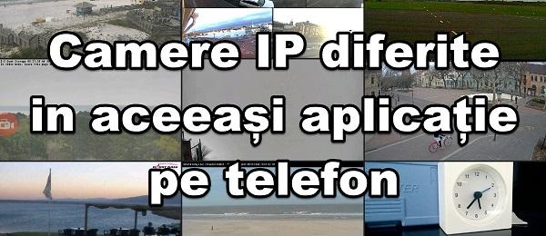 Forskellige IP-kameraer i en applikation