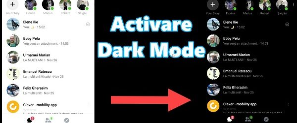 activeaza Modul Dark Messenger
