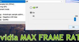 Nvidia Max Frame Rate nueva configuración para control FPS