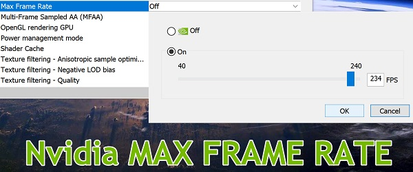 Nvidia Max Frame Rate ny innstilling for FPS-kontroll