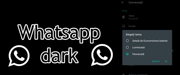 Whatsapp black theme
