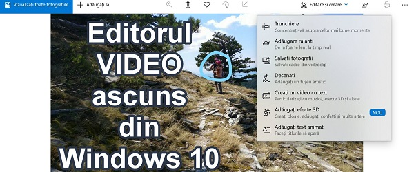 Editor de vídeo oculto no Windows 10