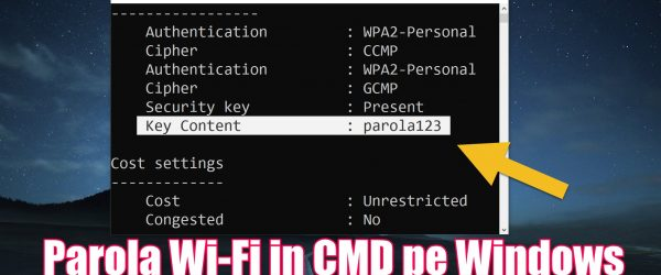 Command display Wi-Fi passwords in CMD