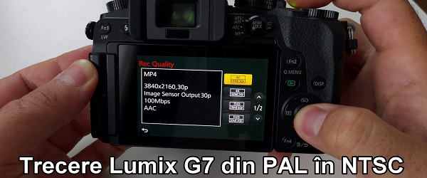 Cambia FPS in Panasonic Lumix G7