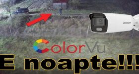 Color images at night surveillance cameras with ColorVu