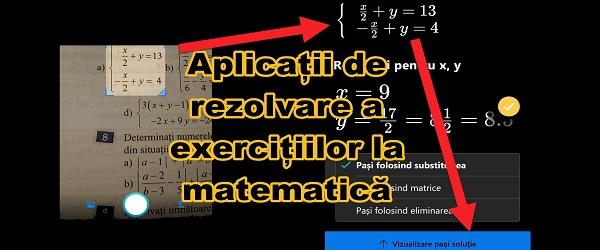 Ansøgninger til løsning af øvelser i Microsoft Math og Photomath mate