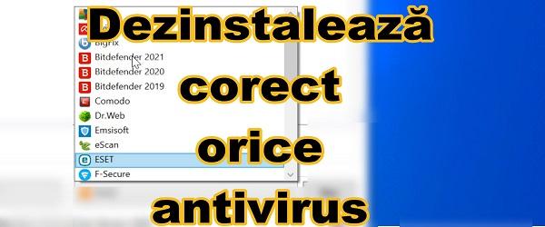 Kaip tinkamai pašalinti antivirusinę programą