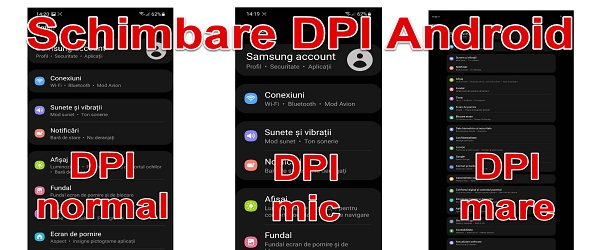 Enlarge and reduce DPI Android applications