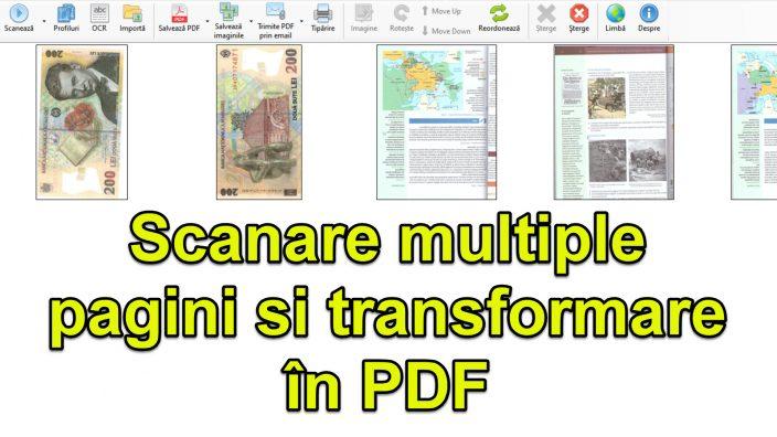 Vytvořte PDF z mnoha naskenovaných stránek z dokumentů k podpisu a odeslání1