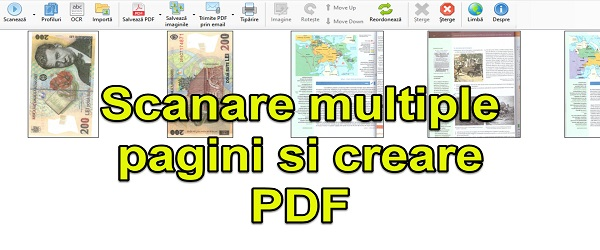Create PDF from many scanned pages