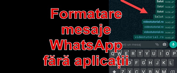 Change the appearance of WhatsApp messages without applications