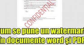 How to put watermark in word and PDF