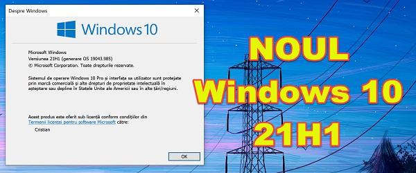 New version 21H1 Windows 10