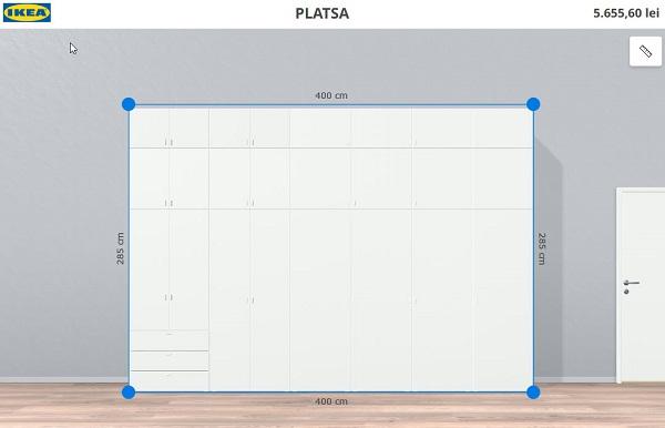 कस्टम अलमारी के लिए विन्यासकर्ता Ikea Platsa 2