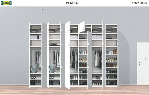 कस्टम अलमारी के लिए विन्यासकर्ता Ikea Platsa 3