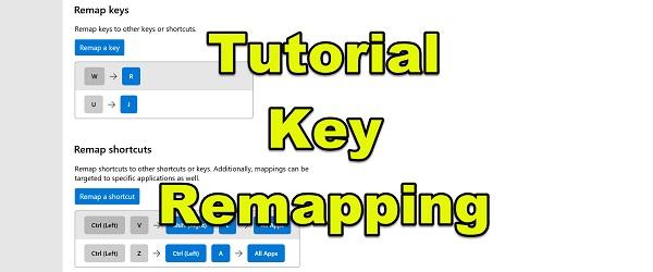 Přemapování klíčů nebo realokace klíčů Windows