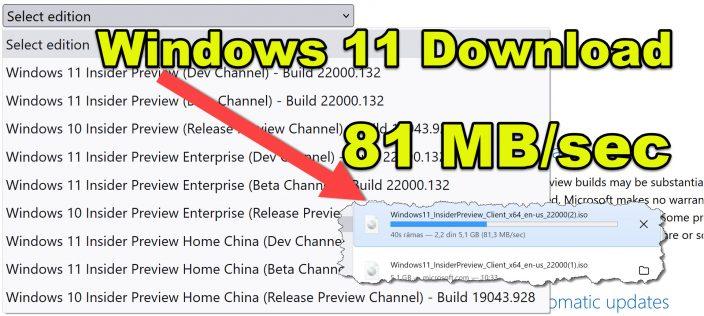 Windows 11 ISO resmi indirme sitesi