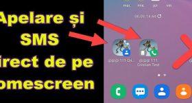 Ring eller sms direkt från en genväg